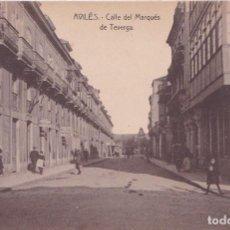 Postales: AVILES (ASTURIAS) - CALLE DEL MARQUES DE TEVERGA. Lote 170029552