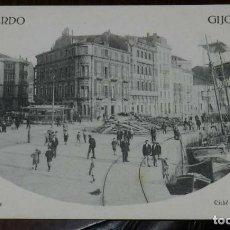 Postales: POSTAL DE GIJÓN (ASTURIAS), LOS MUELLES. CLICHÉ VINCK. NO CIRCULADA.. Lote 170259560
