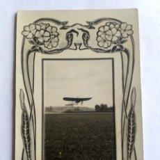 Postales: FOTOGRAFÍA POSTAL DE L. VINCK. AVIADOR GARNIER. GIJÓN, ASTURIAS 1908.. Lote 170485582