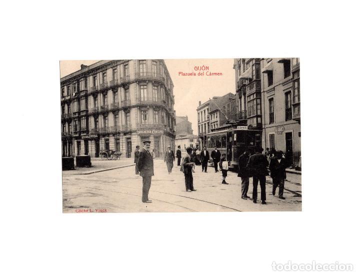 GIJÓN.(ASTURIAS).- PLAZUELA DEL CARMEN. (Postales - España - Asturias Antigua (hasta 1.939))