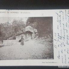 Postales: BALNEARIO DE BORINES ASTURIAS ALREDEDORES ED. IMPRENTA IZQUIERDO MATASELLOS CARTERIA ABLAÑA. Lote 171596528