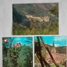 Postales: 3 POSTALES COVADONGA AÑOS 60 Y 70 SIN CIRCULAR. Lote 171673660