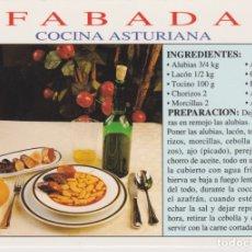 Cartes Postales: ASTURIAS, GASTRONOMÍA ASTURIANA, FABADA - ESCUDO DE ORO EXC. MORO Nº 264 - S/C. Lote 172579684