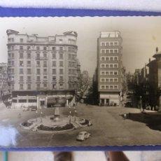 Postales: GIJON PLAZA DEL 6 DE AGOSTO AÑO 1959 CIRCULADA. Lote 172934128