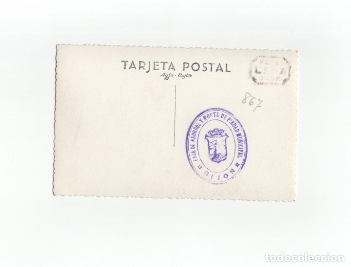 Postales: GIJÓN.(ASTURIAS).- ACTO MILITAR. FALANGE. MARINA. DISTINTIVO DE PECHO CUARTEL DEL GENERALISIMO - Foto 2 - 174184678