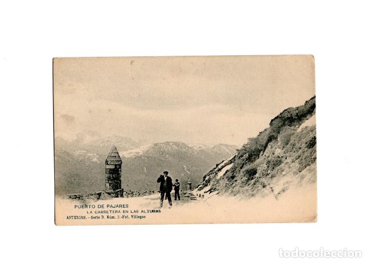 PUERTO DE PAJARES.(ASTURIAS).- LA CARRETERA EN LAS ALTURAS. (Postales - España - Asturias Antigua (hasta 1.939))