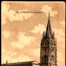 Postales: TARJETA POSTAL DE OVIEDO: LA CATEDRAL./ GRAFOS-MADRID./ AÑOS 20.. Lote 175555973