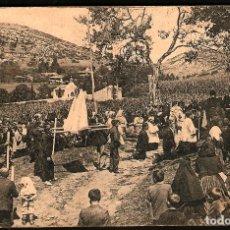 Postales: TARJETA POSTAL DE OVIEDO: PROCESIÓN EN LA ALDEA./ GRAFOS-MADRID./ 8-12-1925. Lote 175556108