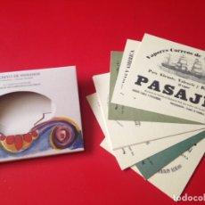 Postales: ESTUCHE CON 12 POSTALES CARTELES COMPAÑIAS NAVIERAS. ARCHIVO DE INDIANOS. COLOMBRES. ASTURIAS. Lote 176893944