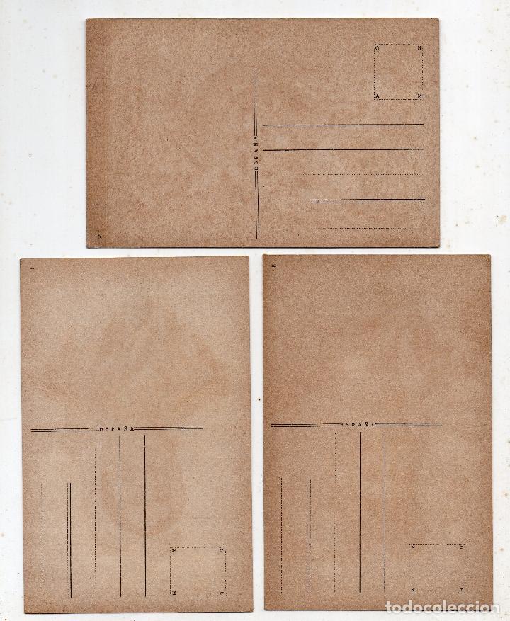 Postales: Lote de 3 postales antiguas de Asturias. Tipos y Costumbres. Por G. Estrada / Márgara - Foto 2 - 177191382