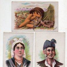 Postales: LOTE DE 3 POSTALES ANTIGUAS DE ASTURIAS. TIPOS Y COSTUMBRES. POR G. ESTRADA / MÁRGARA. Lote 177191382
