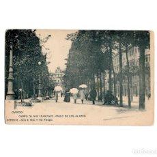 Postales: OVIEDO.(ASTURIAS).- CAMPO SAN FRANCISCO. PASEO DE LOS ALAMOS.. Lote 177413994