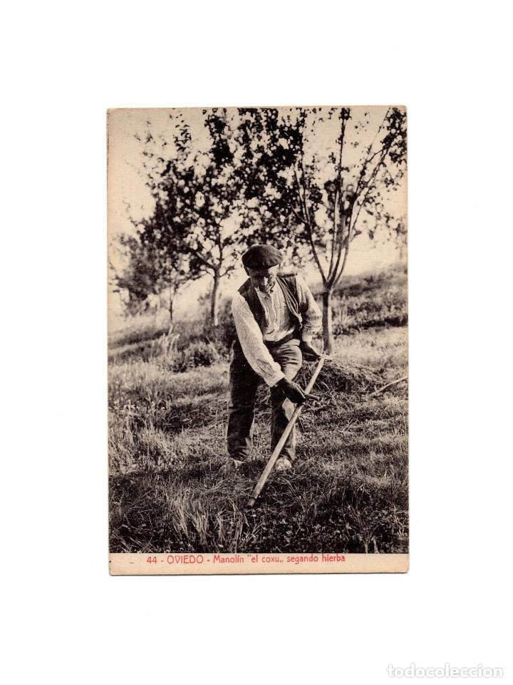 OVIEDO.(ASTURIAS).- MANOLÍN EL COXU - SEGANDO HIERBA. (Postales - España - Asturias Antigua (hasta 1.939))