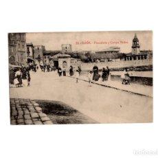 Postales: GIJÓN.(ASTURIAS).- PESCADERÍA Y CAMPO VALDES.. Lote 177422939