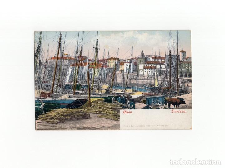 GIJÓN.(ASTURIAS).- DÁRSENA, ED. PURGER. (Postales - España - Asturias Antigua (hasta 1.939))