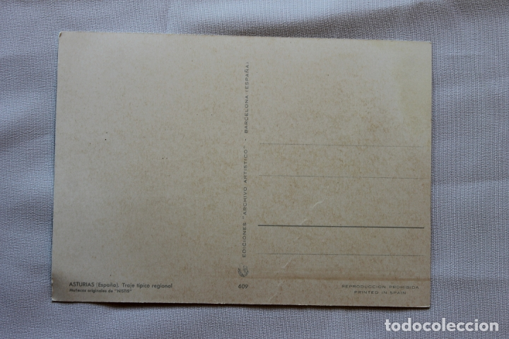 Postales: POSTAL ASTURIAS TRAJE TIPICO REGIONAL, MUÑECOS NISTIS, - Foto 2 - 178399247