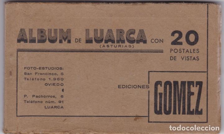 ALBUM DE LUARCA CON 20 POSTALES DE VISTAS EDICIONES GOMEZ VER FOTOS ADICIONALES DE LAS POSTALES (Postales - España - Asturias Antigua (hasta 1.939))