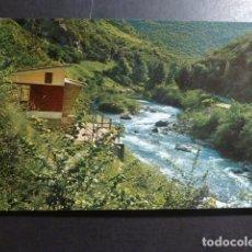 Postales: PICOS DE EUROPA ASTURIAS RIO CARES REFUGIO DE PESCADORES EN NISERIAS. Lote 178624086