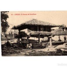 Postales: OVIEDO.(ASTURIAS).- HORREO DE SANTULLANO.. Lote 178709162
