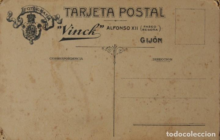 Postales: GIJÓN. Bastante antigua .Postal. VINCK. - Foto 2 - 178724712