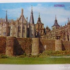 Postales: POSTAL. 342. ASTORGA. PALACIO DE GAUDÍ, CATEDRAL Y MURALLAS. ED. PARÍS. NO ESCRITA. . Lote 179151498