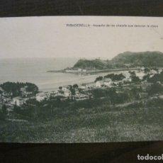 Postales: RIBESEYA-RIBADESELLA-ASPECTO DE LOS CHALETS-ED·JESUS DELGADO-SELLO CENSURA MILITAR-VER FOTOS(63.134). Lote 179312663