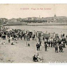 Postales: ASTURIAS GIJON PLAYA DE SAN LORENZO. ED. F. MATOS. SIN CIRCULAR. Lote 179331967