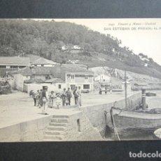 Postales: POSTAL ASTURIAS. SAN ESTEBAN DE PRAVIA. EL MUELLE. . Lote 179402870