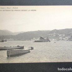 Postales: POSTAL ASTURIAS. SAN ESTEBAN DE PRAVIA DESDE LA ARENA. . Lote 179403132