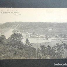 Postales: POSTAL ASTURIAS. SAN ESTEBAN DE PRAVIA. LA ARENA. . Lote 179403162