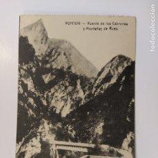 Postales: PONTON-PUENTE DE LOS CABRONES Y MONTAÑAS DE RUES-SELLO CENSURA MILITAR-VER REVERSO-(63.034). Lote 179542300