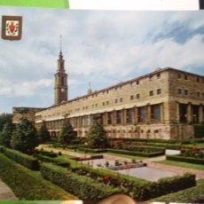 Postales: POSTAL UNIVERSIDAD LABORAL GIJON FACHADA SUR ESCRITA Y SELLADA. Lote 180188021