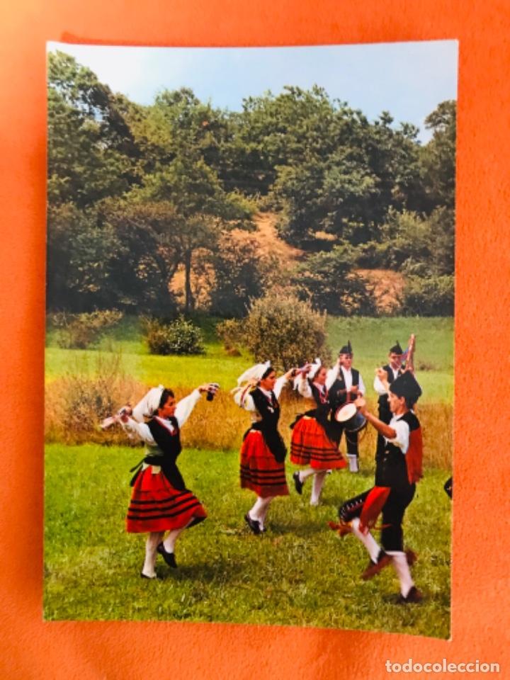 ASTURIAS POSTAL GRUPO TIPICO N.64 GAITEROS BAILE ASTUR ESCRITA (Postales - España - Asturias Moderna (desde 1.940))
