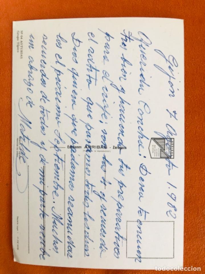 Postales: Asturias postal grupo tipico n.64 gaiteros baile astur escrita - Foto 2 - 180340186