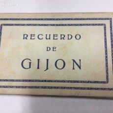 Postales: RECUERDO DE GIJÓN. 10 VISTAS. FOTOG. ANÓNIMO BLOC DE POSTALES TIPO ACORDEON. Lote 180949920