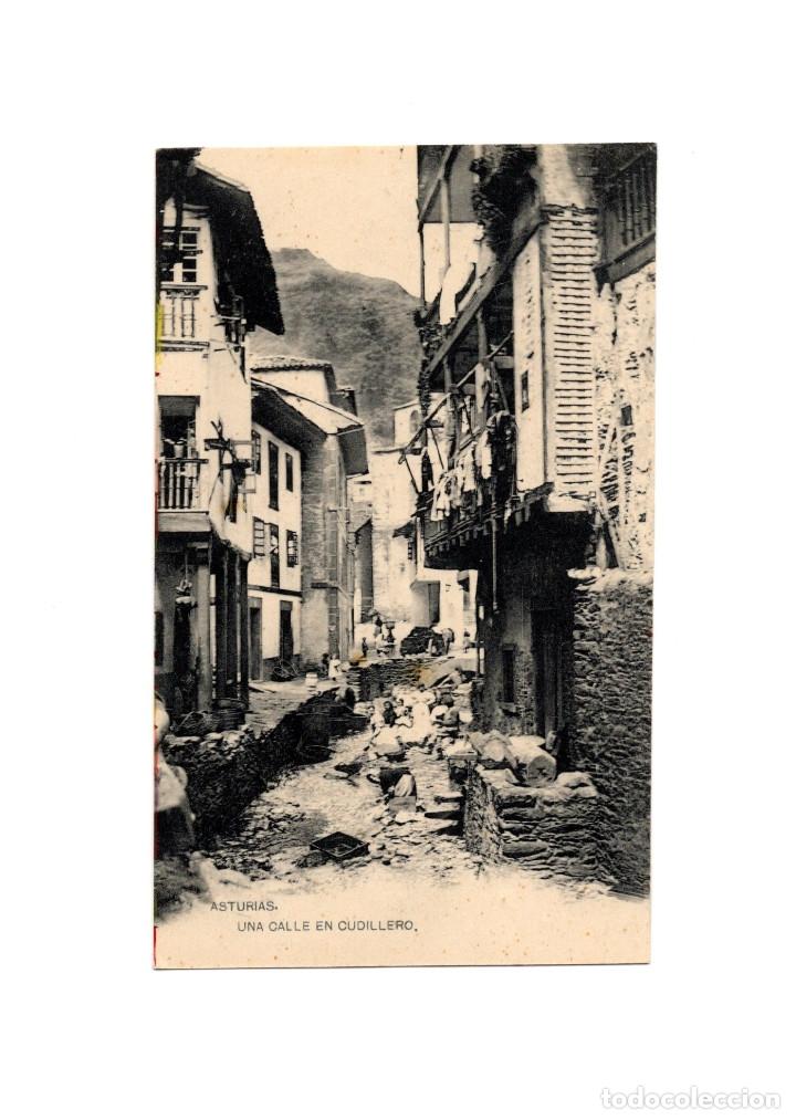 CUDILLERO.(ASTURIAS).- UNA CALLE. (Postales - España - Asturias Antigua (hasta 1.939))