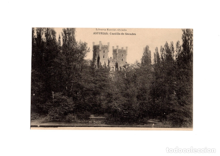 ASTURIAS.- CASTILLO DE SECADES. (Postales - España - Asturias Antigua (hasta 1.939))