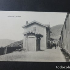 Postales: ESTACION DE LINARES PUERTO DE PAJARES ASTURIAS ESTACION FERROCARRIL. Lote 181338370