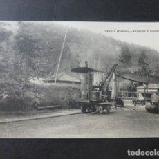 Postales: TRUBIA ASTURIAS GRUAS EN EL PROBADERO. Lote 181338667