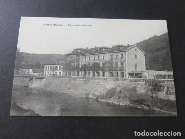 TRUBIA ASTURIAS CALLE DE LA ESTACION (Postales - España - Asturias Antigua (hasta 1.939))