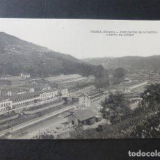 Postales: TRUBIA ASTURIAS VISTA PARCIAL DE LA FAABRICA Y BARRIO DE JUNIGRO. Lote 181338965