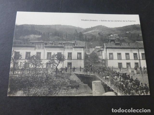 TRUBIA ASTURIAS SALIDA DE LOS OBREROS DE LA FABRICA (Postales - España - Asturias Antigua (hasta 1.939))