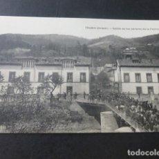 Postales: TRUBIA ASTURIAS SALIDA DE LOS OBREROS DE LA FABRICA. Lote 181339818