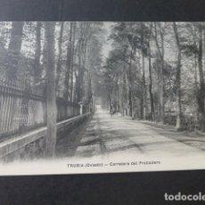 Postales: TRUBIA ASTURIAS CARRETERA DEL PROBADERO. Lote 181339990