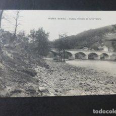 Postales: TRUBIA ASTURIAS PUENTE DE SOTO EN LA CARRETERA. Lote 181340251