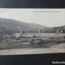 Postales: TRUBIA ASTURIAS PUENTE DE DEL FERROCARRIL SOBRE EL NALON. Lote 181340561