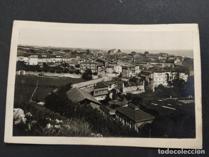 LLANES-VISTA PARCIAL-POSTAL PROTOTIPO ARCHIVO FOTOGRAFICO ROISIN-FOTO PEGADA-VER FOTOS-(63.515) (Postales - España - Asturias Antigua (hasta 1.939))