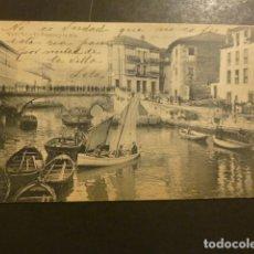 Postales: LLANES ASTURIAS EL PUENTE Y LA RIA 1903 CIRCULADA. Lote 181925476