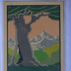 Postales: GIJON ,FERIA DE MUESTRAS 1925 , ARTES GRAFICAS. Lote 181963622