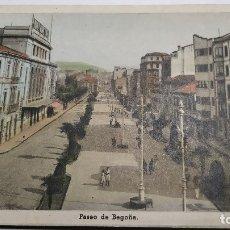 Postales: GIJON .PASEO DE BEGOÑA .COLOREADA. Lote 182037150